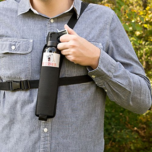 Bear Protection With Frontiersman Bear Spray: Nylon Chest Holster For Frontiersman Bear Spray